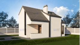 Constructie casa lemn parter + mansarda (100 mp) - Anais