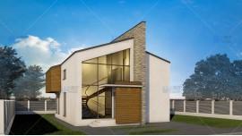 Proiect casa parter + mansarda (145 mp) - Ascend
