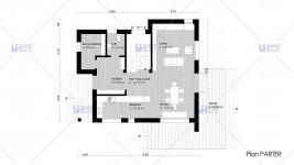Proiect casa parter + etaj (171 mp) - Atena