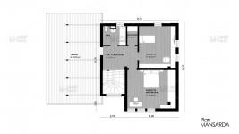 Constructie casa zidarie parter + mansarda (176 mp) - Deezen