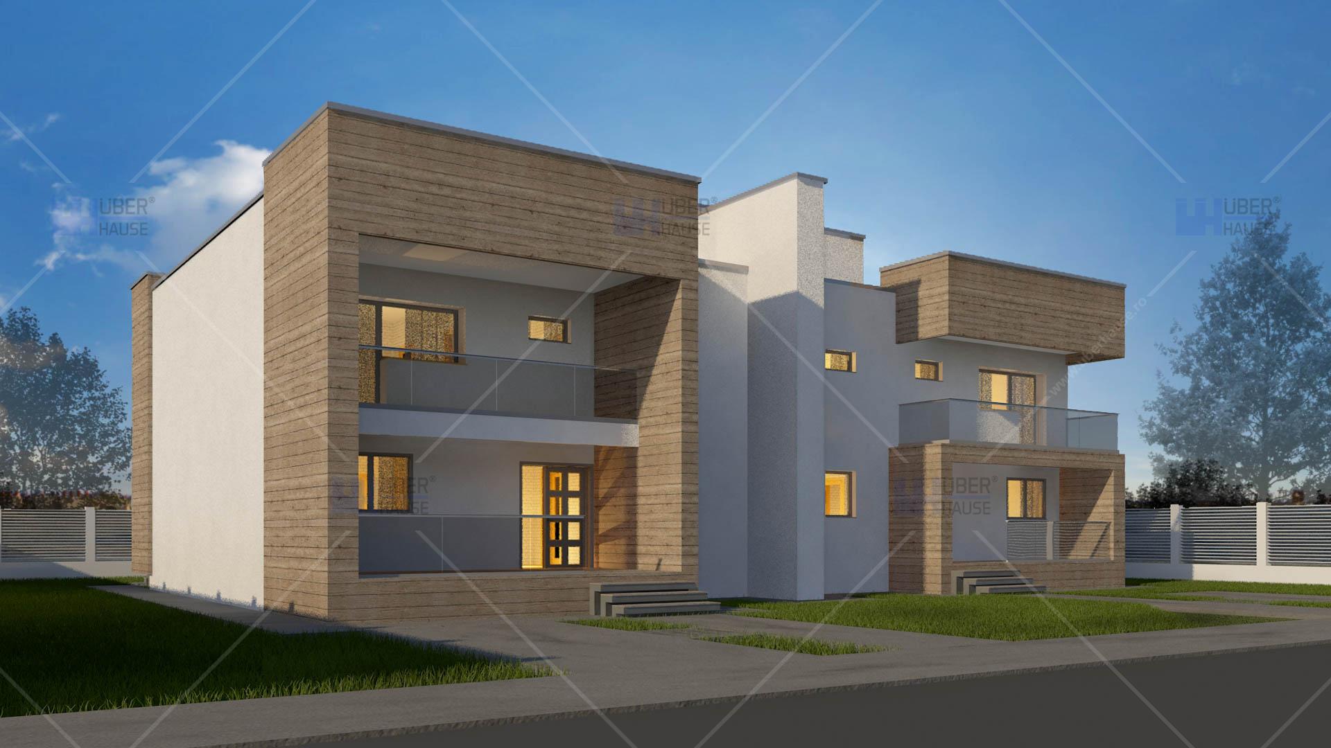proiect duplex parter 2 etaje 394 mp dualis. Black Bedroom Furniture Sets. Home Design Ideas