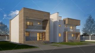 Proiect duplex parter + 2 etaje (394 mp) - Dualis