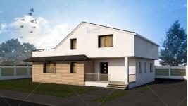 Proiect casa parter + mansarda (190 mp) - Dunia