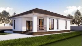 Proiect casa parter (97 mp) - Ema