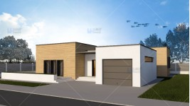 Constructie casa structura metalica parter (143 mp) - Meza