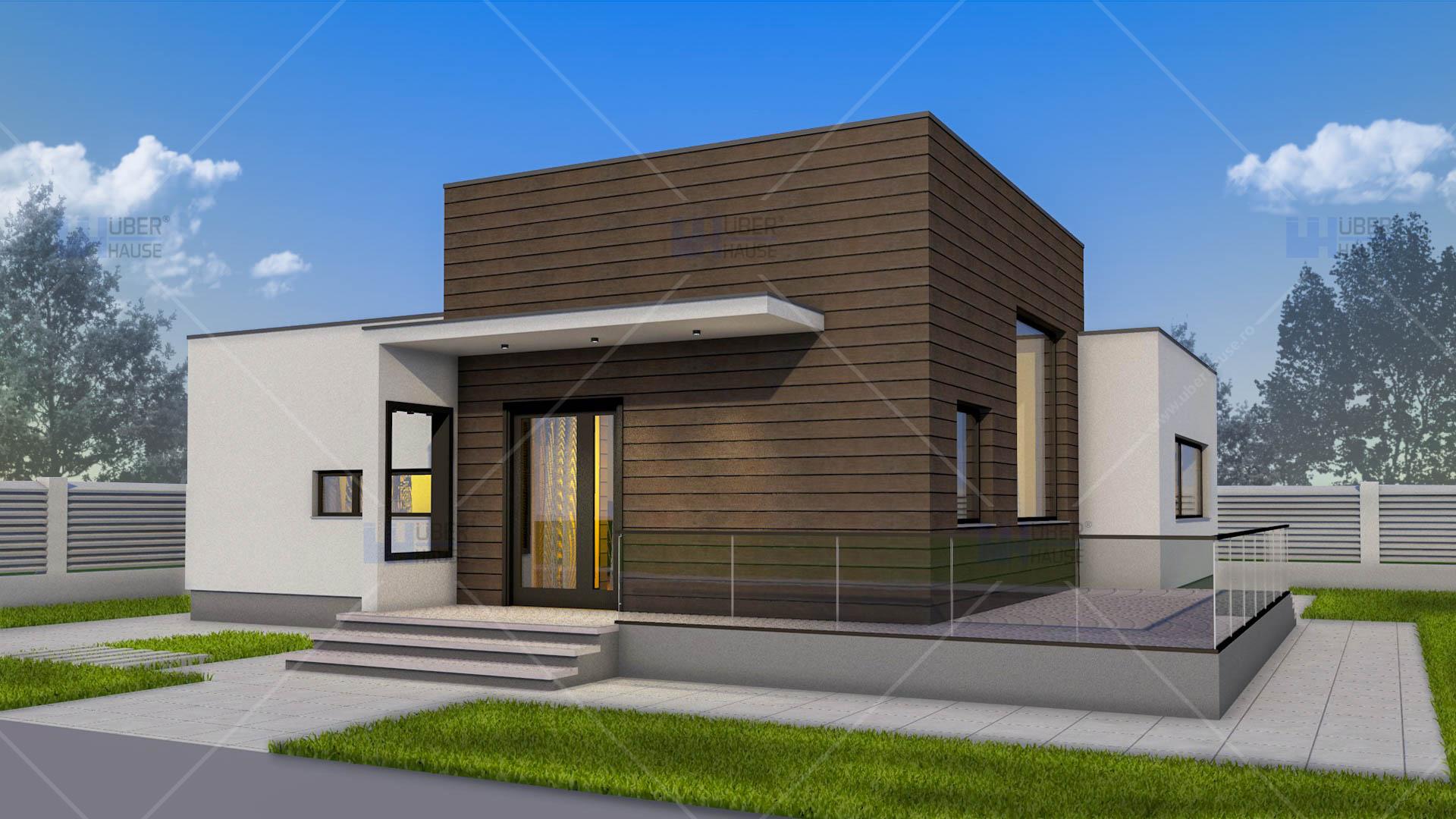 Proiect casa parter 100 mp nadira for Case moderne bianche