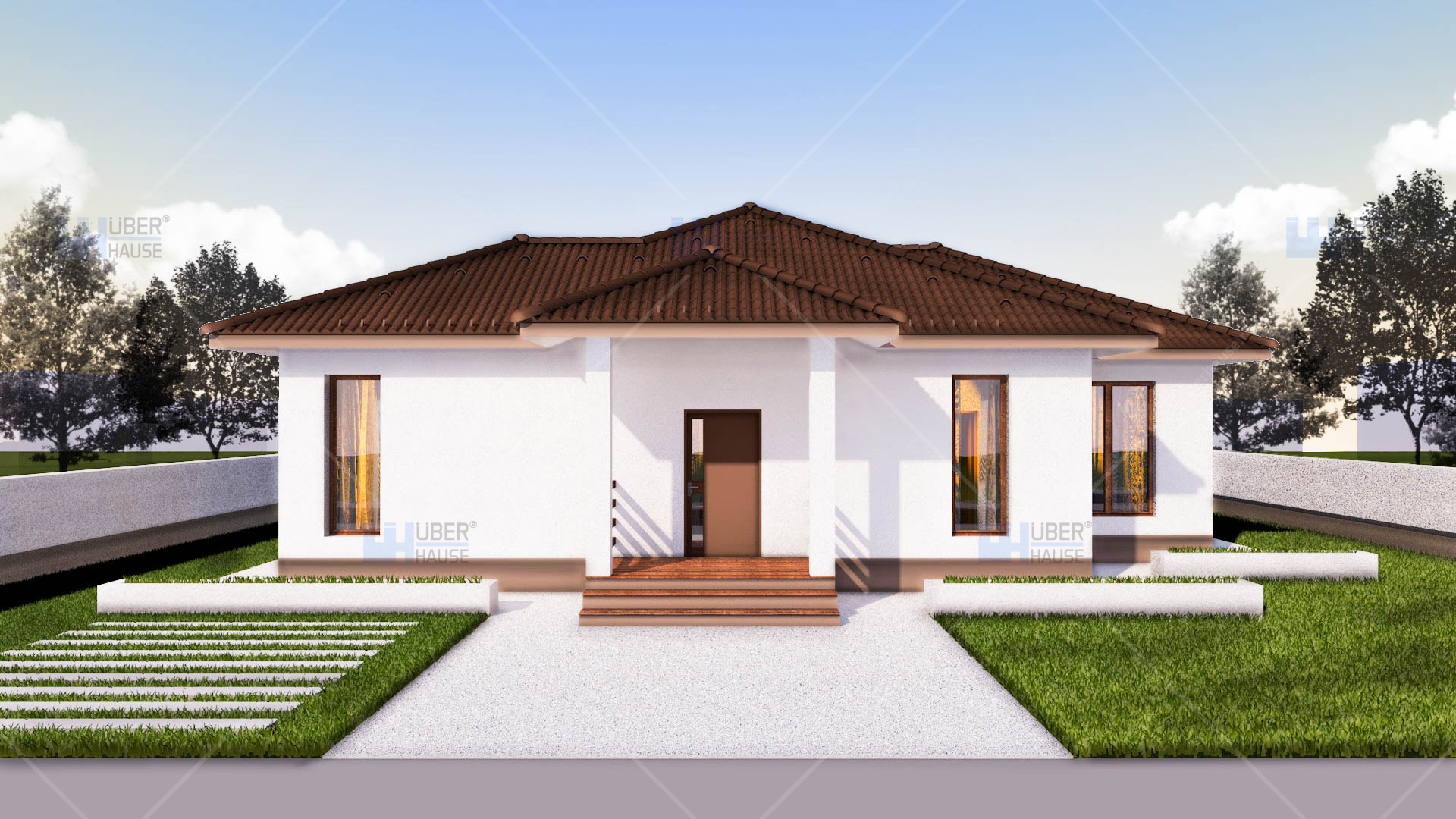 5 Bedroom One Story Floor Plans Proiect Casa Parter 112 Mp Rovenna