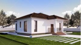 Proiect casa parter (112 mp) - Rovenna