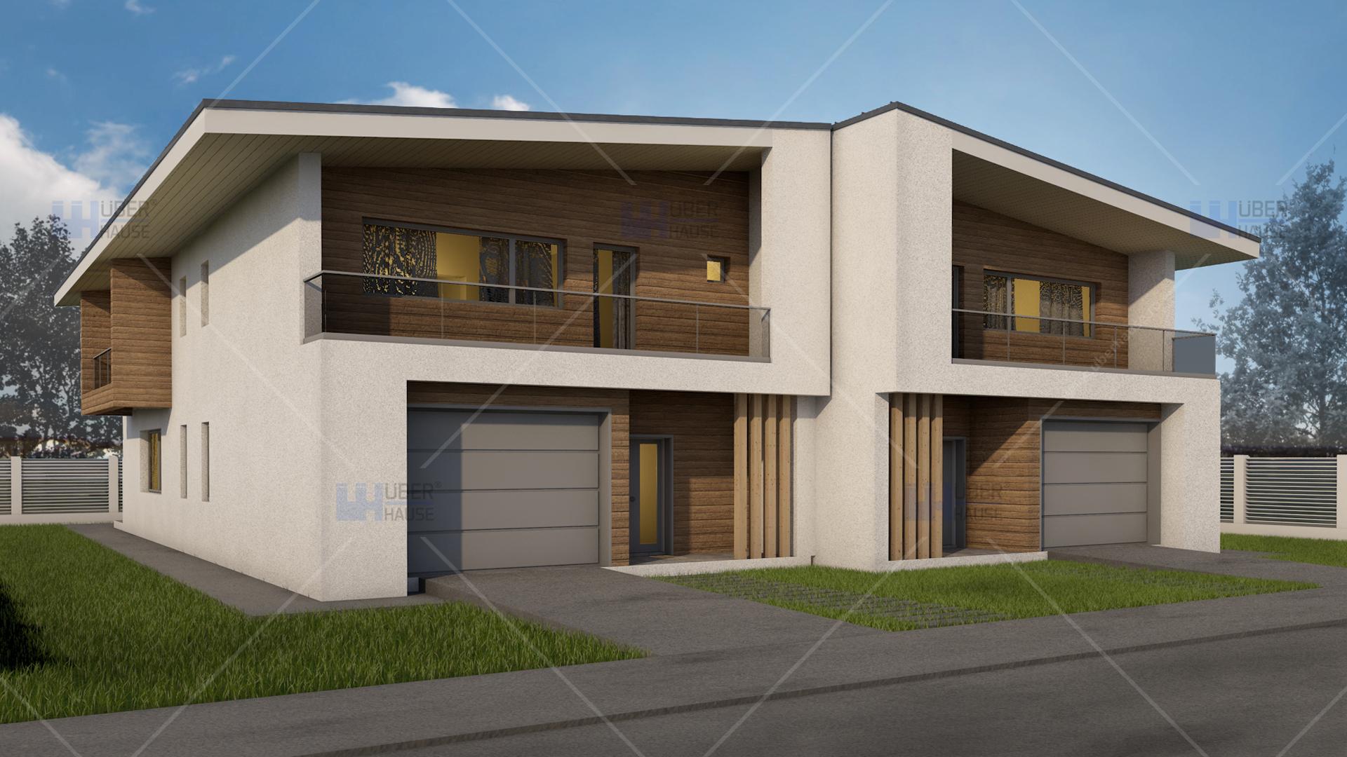 Proiect duplex parter mansarda 390 mp teea for Modele de duplex