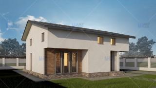 Proiect casa parter + mansarda (136 mp) - Tura