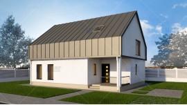 Proiect casa parter + mansarda (138 mp) - Vendra