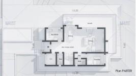 Proiect casa parter + mansarda (208 mp) - Verona