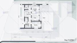 Proiect casa cu etaj (162 mp) - teren in panta - Midori