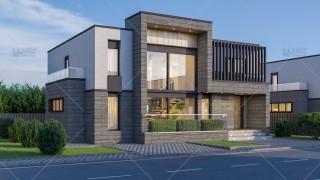 Proiect casa parter + etaj (185mp) - Rivena