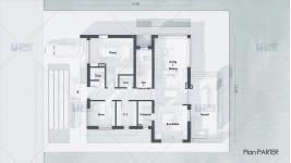 Proiect casa  doua etaje (285mp) - Donia