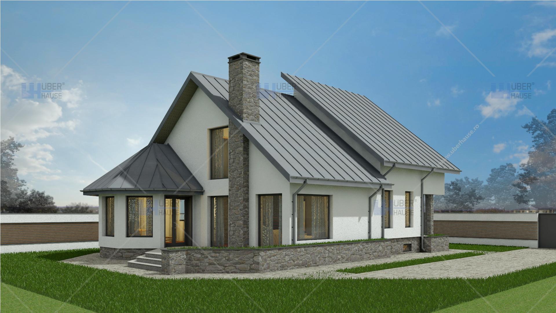proiect casa demisol parter mansarda 202 m2 crissa