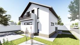 Proiect casa parter + mansarda (110 mp) - Allena