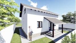 Constructie casa lemn parter + mansarda (110 mp) - Allena