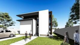 Proiect casa parter + etaj (110 mp) - Norra