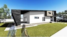 Proiect casa parter + mansarda (123 mp) - Angula