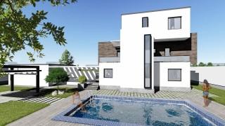 Proiect casa parter + 2 etaje (272 mp) - Corona