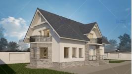 Proiect personalizat casa cu mansarda - Ilfov