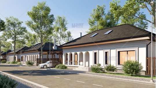 Proiect ansamblu rezidential case traditionale Moara Vlasiei