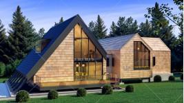 Proiect personalizat casa pe piloni - Padure Baneasa