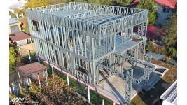 Proiect casa parter + etaj (236 mp) - structura metalica Dragomiresti-Deal, Ilfov