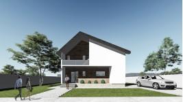 Constructie casa lemn parter + mansarda (124 mp) - Reyna