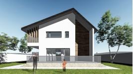 Proiect casa parter + mansarda (124 mp) - Reyna