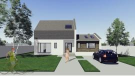 Proiect casa parter + mansarda (149 mp) - Samira