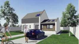Constructie casa lemn parter + mansarda (149 mp) - Samira