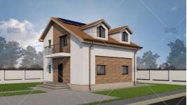 Proiect casa parter + mansarda (89.7mp) - Solaria